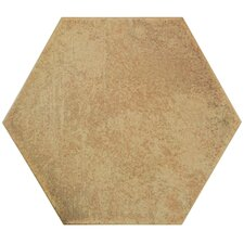 "Hexitile 7"" x 8"" Porcelain Field Tile in Matte Rodeno"