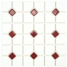 Cambridge Random Sized Porcelain Mosaic Tile in White