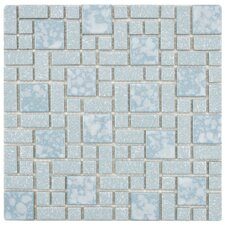 Academy Random Size Porcelain Mosaic Floor and Wall Tile in Blue