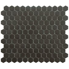 "New York 0.875"" x 0.875"" Porcelain Mosaic Tile in Antique Black"
