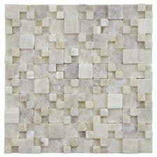 Grizelda Random Sized Natural Stone Mosaic Tile in Yellow Jade