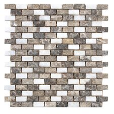 """Grizelda 0.5"""" x 1.25"""" Natural Stone Mosaic Tile in Sand"""
