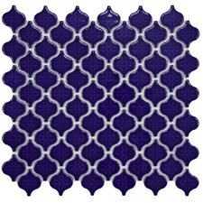 "Beacon Mini 1.375"" x 1.5"" Porcelain Mosaic Tile in Cobalt"