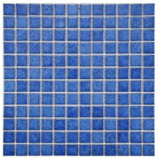 "Pool 1"" x 1"" Porcelain Mosaic Tile in Aral"