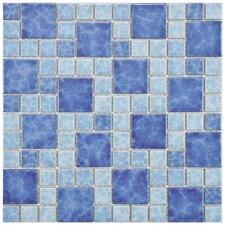 "Pool 2"" x 2"" Porcelain Mosaic Tile in Adriatic"