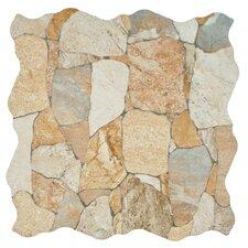 """Atticas 17.75"""" x 17.75"""" Ceramic Splitface Tile in Beige"""