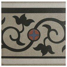 """Cementa 7"""" x 7"""" Ceramic Glazed Tile in And Cenefa"""