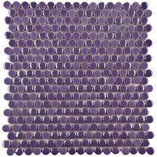 Tucana Porcelain Mosaic Tile in Purple