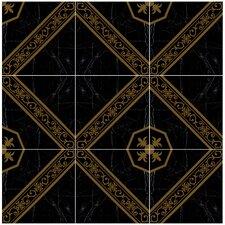 "Absheron 17.75"" x 17.75"" Ceramic Floor and Wall Tile in Black"