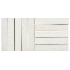 """Loggo 20"""" x 10"""" Porcelain Mosaic Floor and Wall Tile in White"""