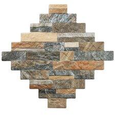 "Francesco 12.25"" x 12.25"" Porcelain Floor and Wall Tile in Brown"