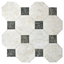 """Opalo 17.75"""" x 17.75"""" Ceramic Floor and Wall Tile in White"""