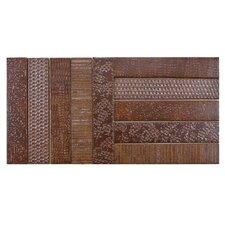 """Loggo 20"""" x 10"""" Porcelain Mosaic Floor and Wall Tile in Brown"""