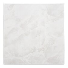 "Alpha 11.75"" x 11.75"" Ceramic Floor and Wall Tile in White"