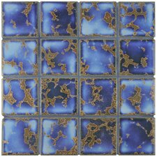 """Canal 12.5"""" x 12.5"""" Mega Square Porcelain Mosaic Floor and Wall Tile in Blue"""
