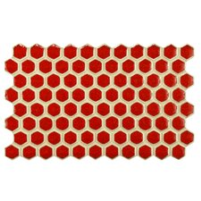 """Genoa 9"""" x 5.5"""" Porcelain Floor and Wall Tile in Red"""