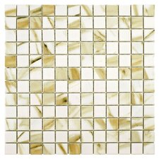 """Gloria 12"""" x 12"""" Porcelain Mosaic Floor and Wall Tile in Cream"""