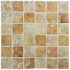 """Elbert 12.5"""" x 12.5"""" Porcelain Mosaic Floor and Wall Tile in Brown"""