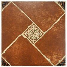 "Toledo 17.75"" x 17.75"" Ceramic Floor and Wall Tile in Brown"