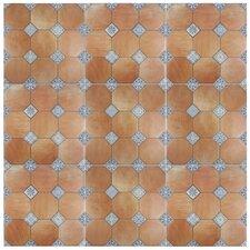 """Lozoya 23.63"""" x 23.63"""" Ceramic Floor and Wall Tile in Brown"""