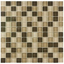 "Sierra 0.875"" x 0.875"" Glass Polished Mosaic Tile in Breeze"