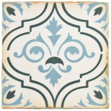 "Arquivo 4.88"" x 4.88"" Ceramic Field Tile in Fleur De Lis"