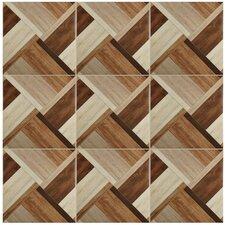 "Colina 17.75"" x 17.75"" Ceramic Wood Tile in Natural"