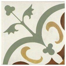 "Revive 7.75"" X 7.75"" Ceramic Hand Painted Tile in Cream"