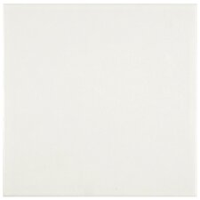 """Forties 7.75"""" x 7.75"""" Ceramic Floor and Wall Tile in White"""