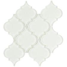 "Linterna 3.5"" x 4.25"" Glass Mosaic Tile in Ice White"