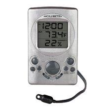 Digital Thermometer with Humidity Gauge and Clock