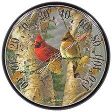 James Hautman Indoor / Outdoor Cardinals Thermometer