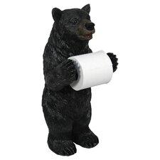 Bear Free Standing Toilet Paper Holder