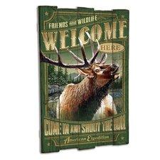 Elk Wooden Cabin Sign Wall Décor