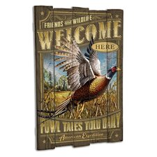 Pheasant Wooden Cabin Sign Wall Decor