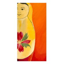 Matryoshka Half face Giclee Painting Print on Canvas