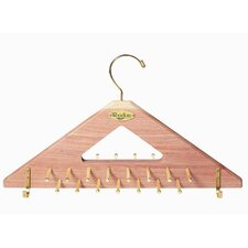 Tie and Belt Hanger in Natural Cedar Finish