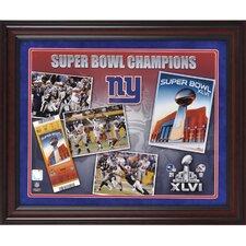 NFL New York Giants Super Bowl XLVI Champions Framed Memorabilia