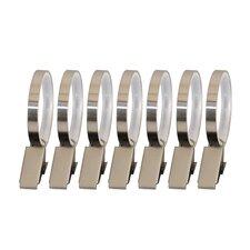 Lexington Flat Clip Curtain Ring (Set of 7)