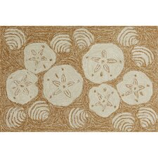 Frontporch Natural Shell Toss Indoor/Outdoor Area Rug