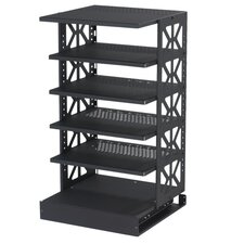 Tall Steel Pull-Out Rotating Shelving Unit