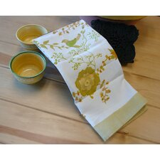 Treetop Yellow Green Tea Towel (Set of 3)