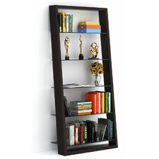 Eileen 74'' Leaning Bookcase