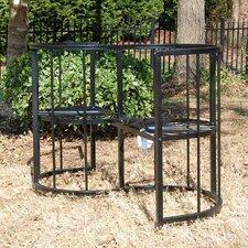Classic Conversation Steel Garden Bench