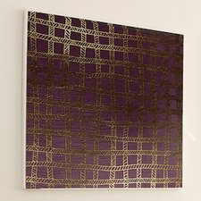Woven Gold Stitch #2 Framed Graphic Art