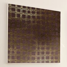 Woven Gold Stitch #4 Framed Graphic Art