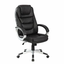 Adjustable High Back Leather Executive Chair