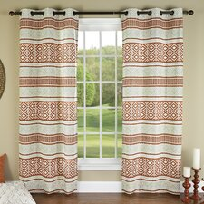 Padova Printed Grommet Window Curtain Panel (Set of 2)