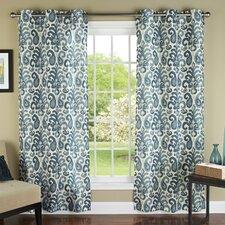 Ikat Plume Grommet Curtain Panel (Set of 2)