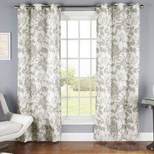 Peony Grommet Curtain Panel (Set of 2)